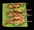 Thai chicken satay Stock Photography