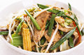 Thai Chicken with Vegetables Royalty Free Stock Images