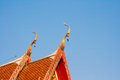 Thai church roof top decoration of style Stock Photos