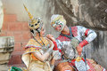 Thai classical mask dance of the Ramayana drama