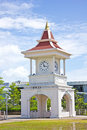 Thai clock tower Stock Image