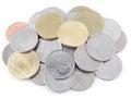 Thai coins close up Stock Photos