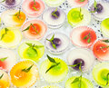 Thai colorful desserts close up Royalty Free Stock Photography