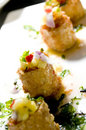 Thai crab cakes appetizer Royalty Free Stock Photography