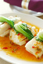 Thai cuisine - hot and sour lemon fish Stock Photography