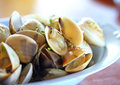 Thai cuisine name fried shellfish made of sea shells Stock Photos