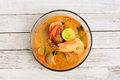 Thai cuisine Tom Yum Goong Royalty Free Stock Photo