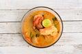 Thai cuisine Tom Yum Goong Royalty Free Stock Photo