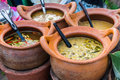Thai curry in the clay pot. Royalty Free Stock Photo