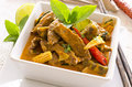 Thai curry red with beef Stock Photography