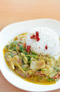 Thai curry with rice food Stock Images