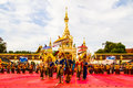 Thai dancers group in front of phatat pranom pagoda nakhon phanom thailand october a perform dancing pratat on october at nakhon Stock Images