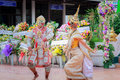 Thai dancing funeral bangkok july in order to respect and remembrance to the dead this cultural tradition in thailand has taken Royalty Free Stock Images