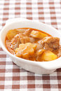 Thai delicious massaman curry on fabric Stock Photos
