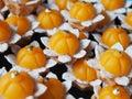 Thai dessert kanom jamongkut or chief crown Royalty Free Stock Photos