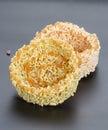Thai dessert - rice cracker or rice biscuit Royalty Free Stock Photo