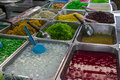 Thai desserts colorful food cooked Royalty Free Stock Photo