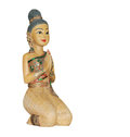 Thai dolly doll cultural style wooden carved thailand Royalty Free Stock Photo
