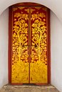Thai door at Wat Phra Kaew Royalty Free Stock Image