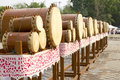 Thai drums musical instrument antique Only in the North of Thailand, called Klong Puja or Puja Drum lanna set.