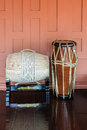 Thai drums native musical instrument Stock Photography