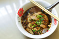 Thai duck noodle soup the is the famous street food in thailand Royalty Free Stock Image
