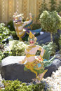 Thai Fairy Tales Creature, Himmapan animals statue Stock Image