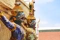 Thai fairy tales creature statue in temple of the emerald buddha wat prakaew Royalty Free Stock Photos