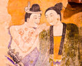 Thai famous mural painting Stock Photography
