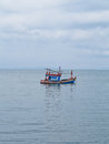 Thai fishing boat movement Royalty Free Stock Photo