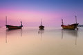 Thai fishing boat in twilight time. Royalty Free Stock Photo