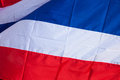 Thai flag huge waving close up Stock Images