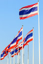 Thai flags various flag in a sky Royalty Free Stock Image