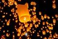 Thai Flying Sky Lantern Royalty Free Stock Photo