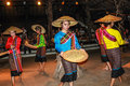 Thai folk dances this is a typical tour of chiang mai kantoke dinner with traditional music with traditional dancing and classic Royalty Free Stock Image