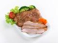 Thai food call  Khor moo yang Stock Images