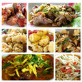Thai food collage mixed in all mixed taste and flavor of best cuisine of the world Royalty Free Stock Photo
