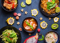 Thai food dishes Royalty Free Stock Photo