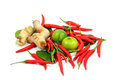 Thai food ingredient isolated on white Stock Photography