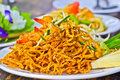 Thai food made of noodle Royalty Free Stock Photography