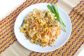 Thai food pad thai style noodles Royalty Free Stock Image