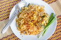 Thai food pad thai style noodles Stock Photography
