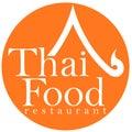 Thai Food Restaurant Logo Design Royalty Free Stock Photo