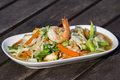 Thai food, seafood with vegetable spicy salad Royalty Free Stock Photo