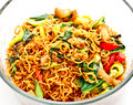 Thai food, spicy fried noodle with pork 1 Royalty Free Stock Image