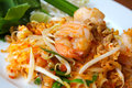 Thai food, stir-fried rice noodles Royalty Free Stock Photo