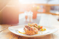 Thai food with Sunset Royalty Free Stock Photo