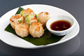 Thai Fried Dumpling Appetizers Stock Photo