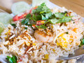 Thai fried rice with shrimps Royalty Free Stock Images