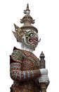 Thai giant sculpture white background thailand Royalty Free Stock Photo